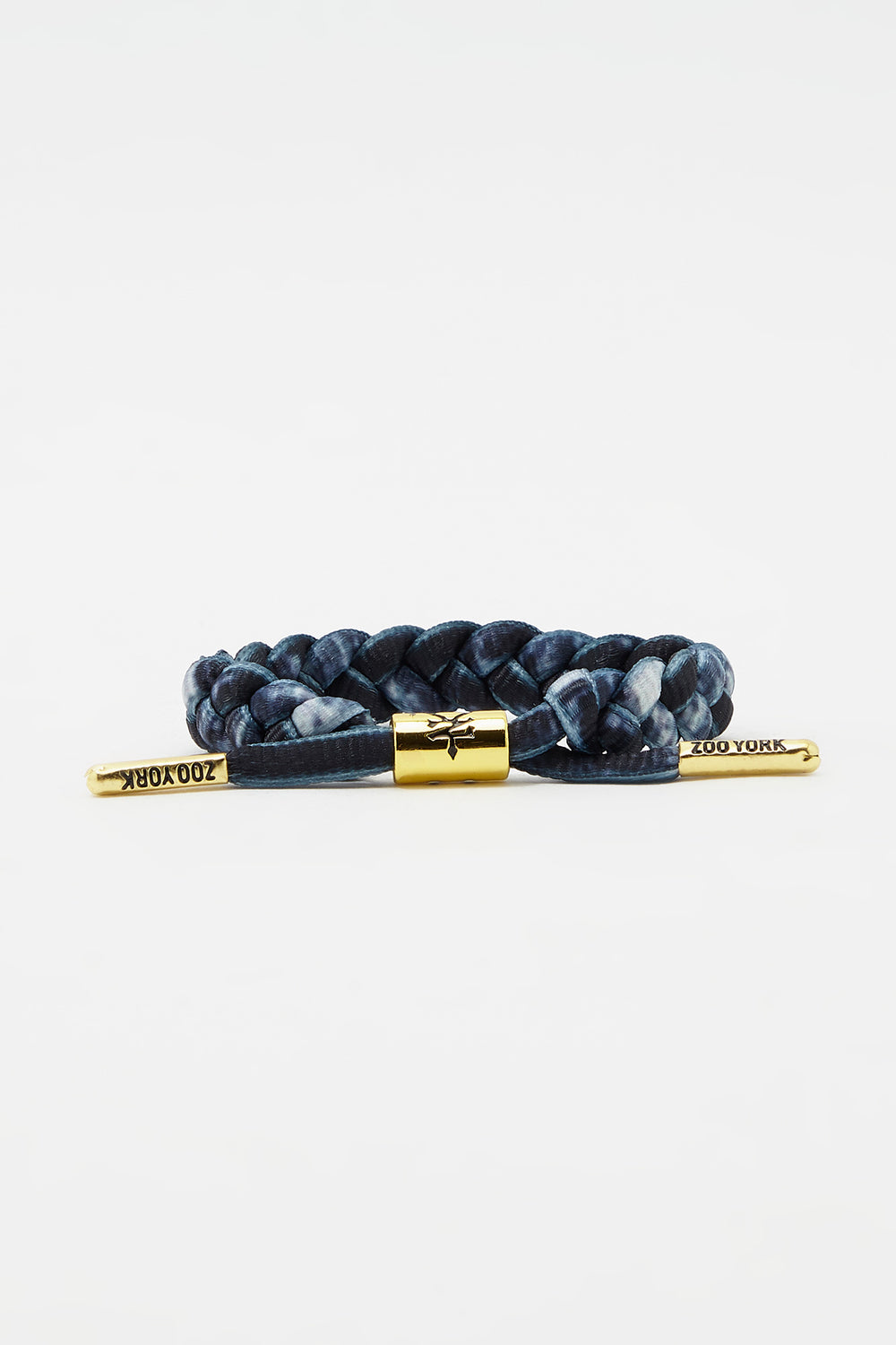 Zoo York Gold Tipped Braid Bracelet Black with White