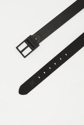 Zoo York Mens Black Faux-Leather Belt