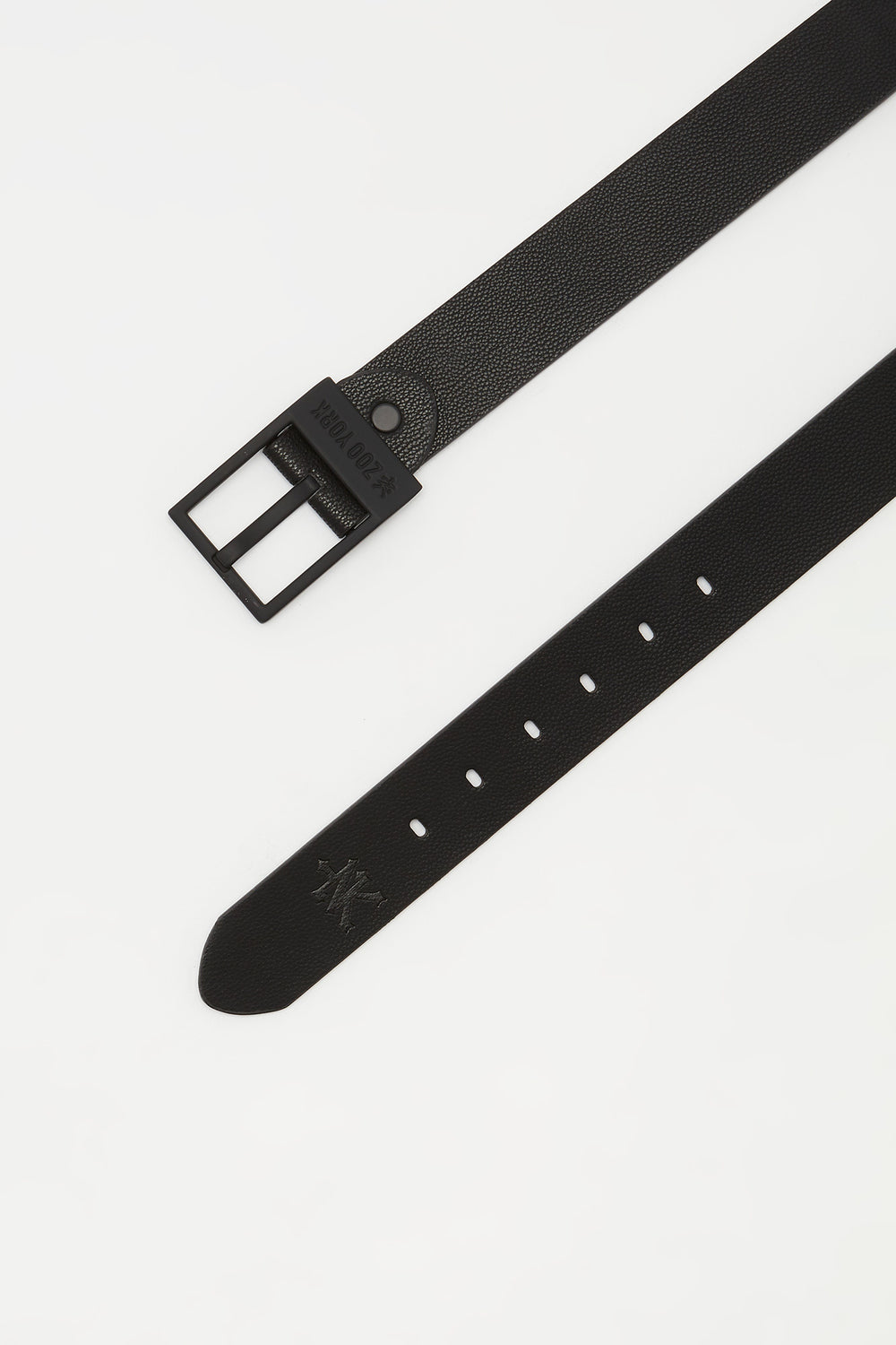 Zoo York Mens Black Faux-Leather Belt Black