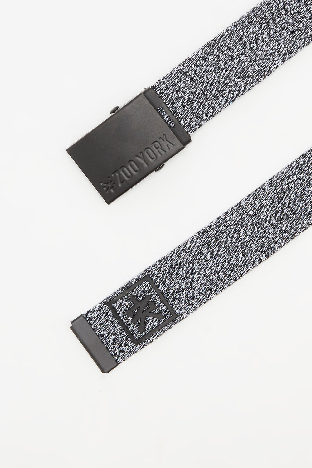 Zoo York Mens Cotton Belt Black with White