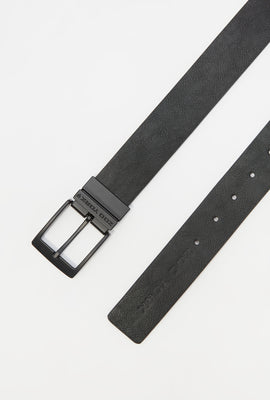 Zoo York Mens Reversible Faux Leather Belt