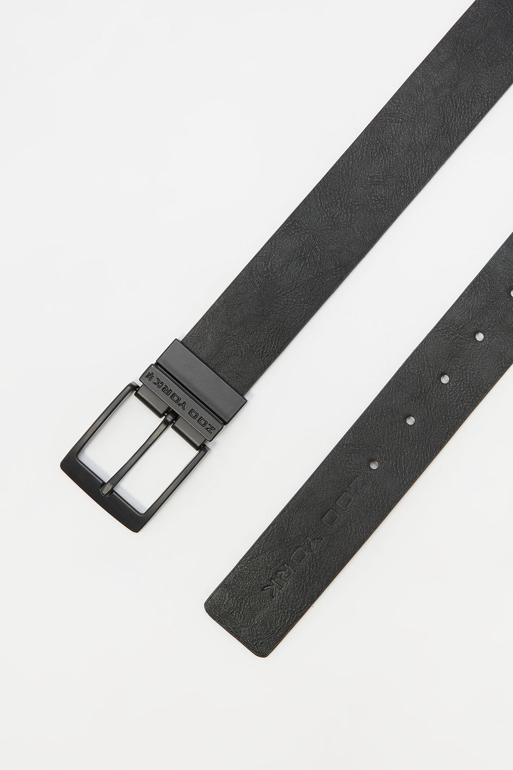 Zoo York Mens Reversible Faux Leather Belt Black