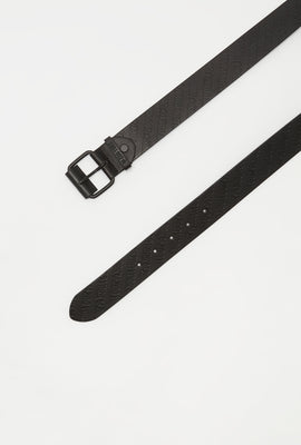 Zoo York Boys Black Faux-Leather Belt
