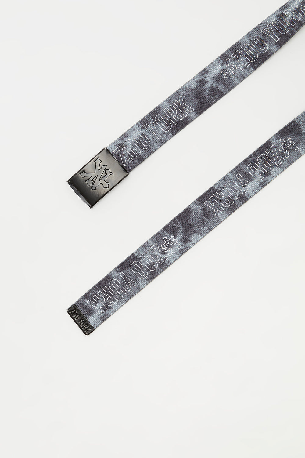 Zoo York Mens Tie Dye Belt Heather Grey