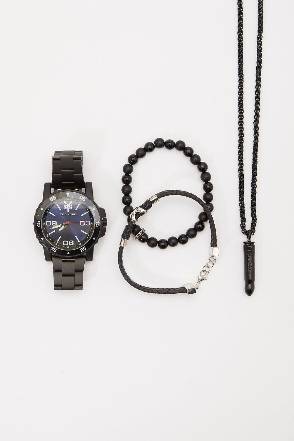Zoo York Mens Black Watch Set Black