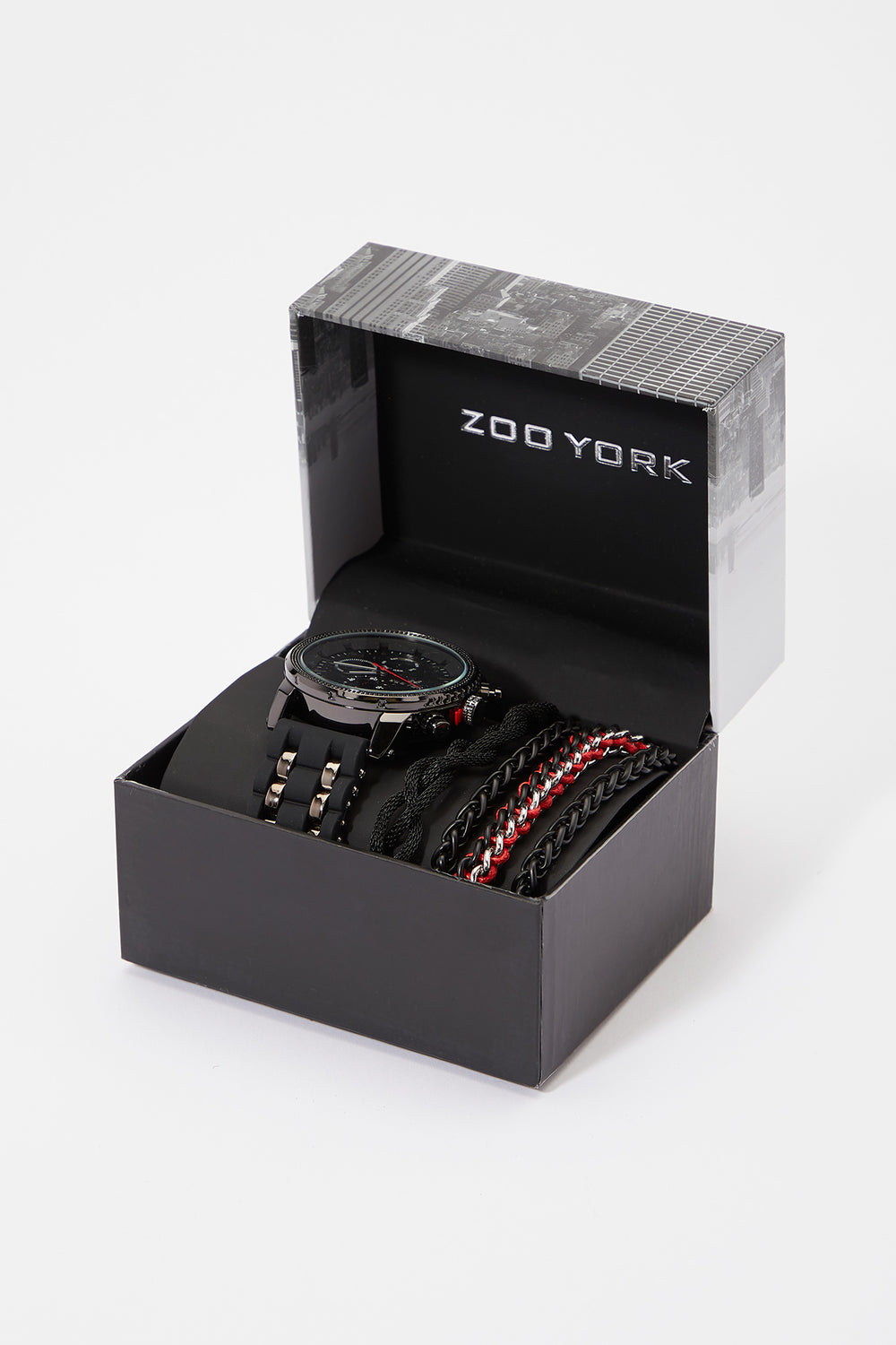 Zoo York Mens Rubber Band Watch Set Black
