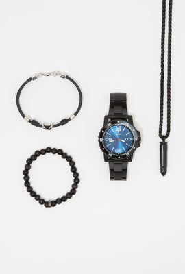 Zoo York Mens Matte All-Black Watch Set