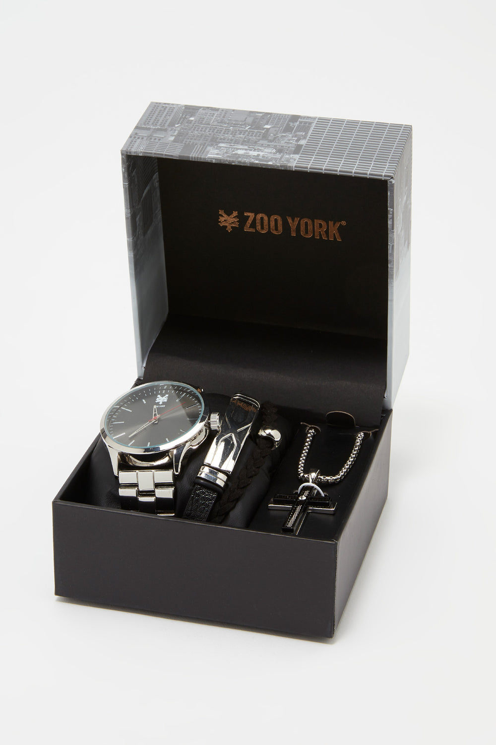 Zoo York Mens Silver-Tone Watch Silver