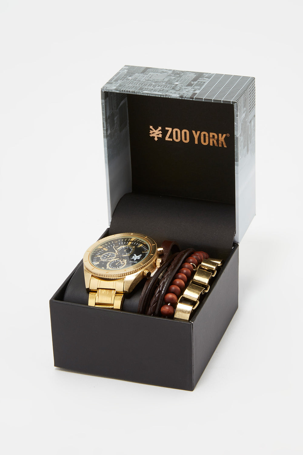 Zoo York Mens Gold-Tone Watch Gold