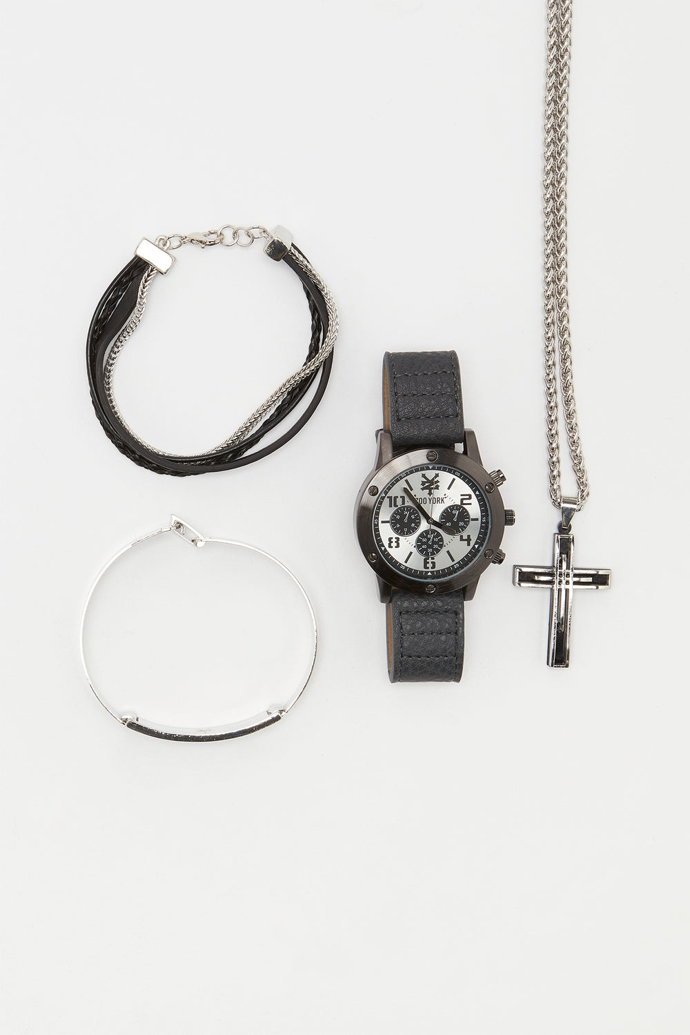 Zoo York Mens Black and Silver Tone Watch Silver