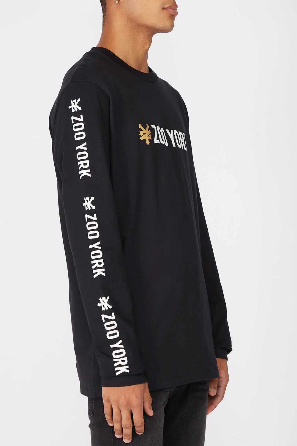 Zoo York Mens Classic Logo Long Sleeve Shirt Black