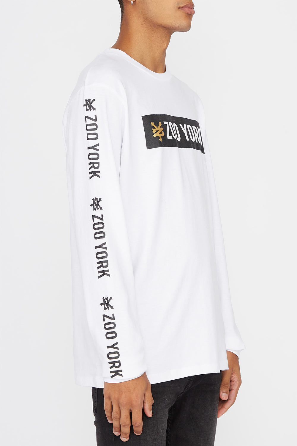 Zoo York Mens Classic Logo Long Sleeve Shirt White