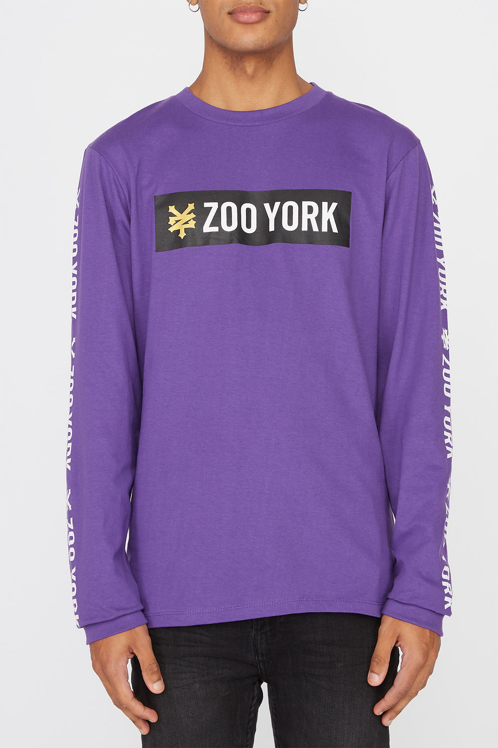 Zoo York Mens Classic Logo Long Sleeve Shirt Purple