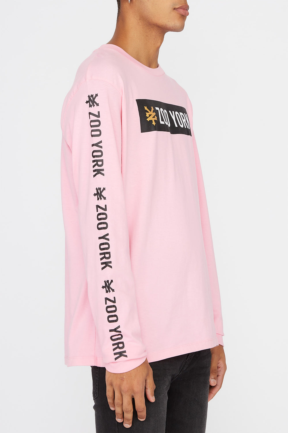 Zoo York Mens Classic Logo Long Sleeve Shirt Pink