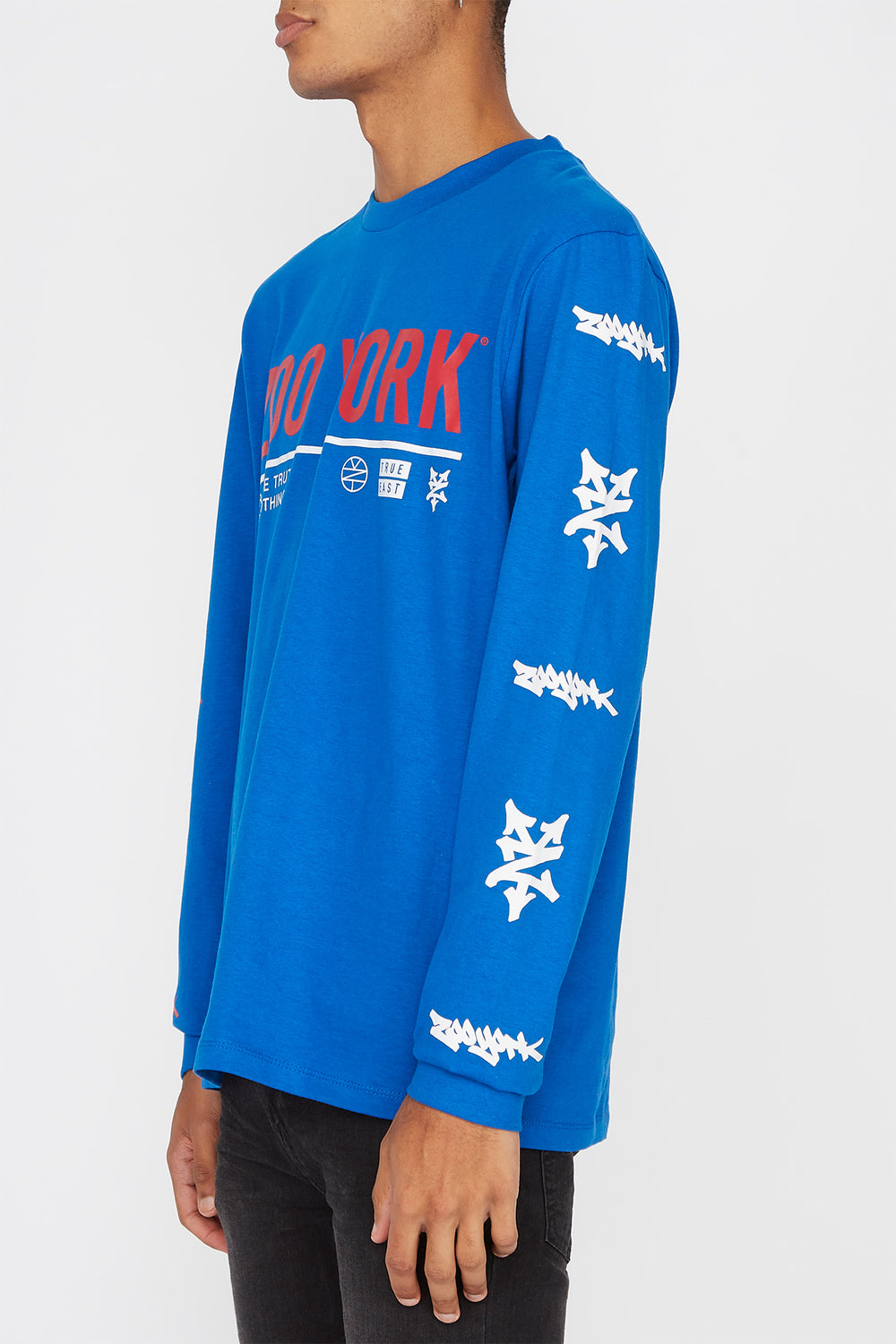 Zoo York Mens Practice Truth Long Sleeve Shirt Blue