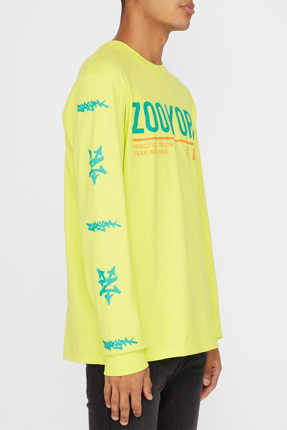 Zoo York Mens Practice Truth Long Sleeve Shirt Yellow