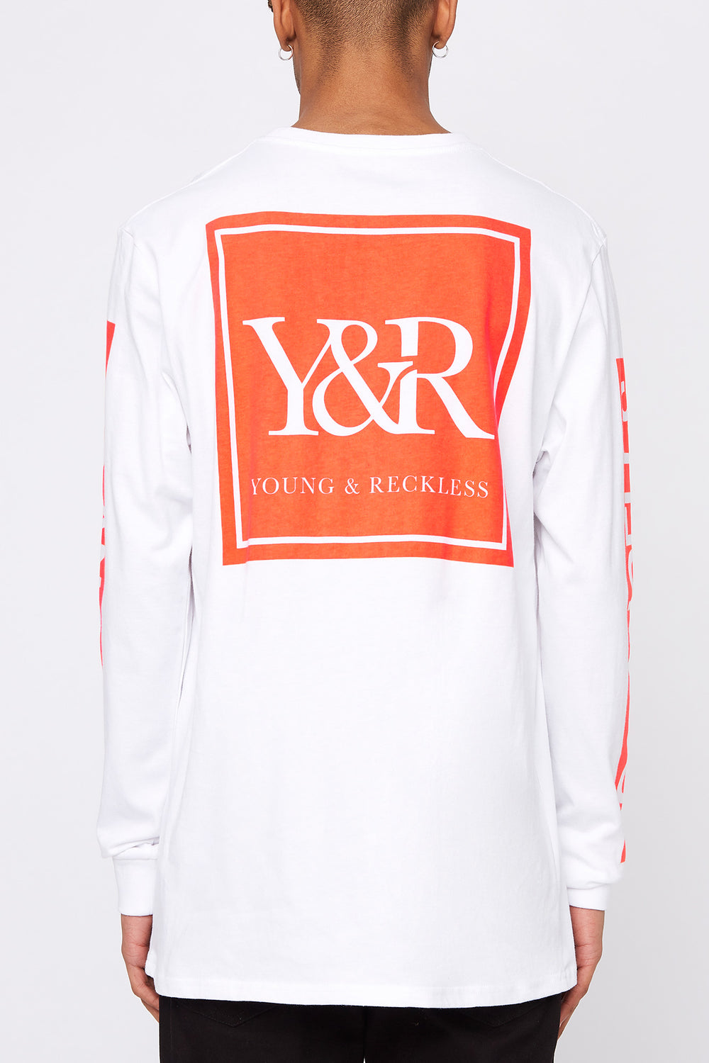 Chandail À Manches Longues Logo Fluo Young & Reckless Homme Blanc