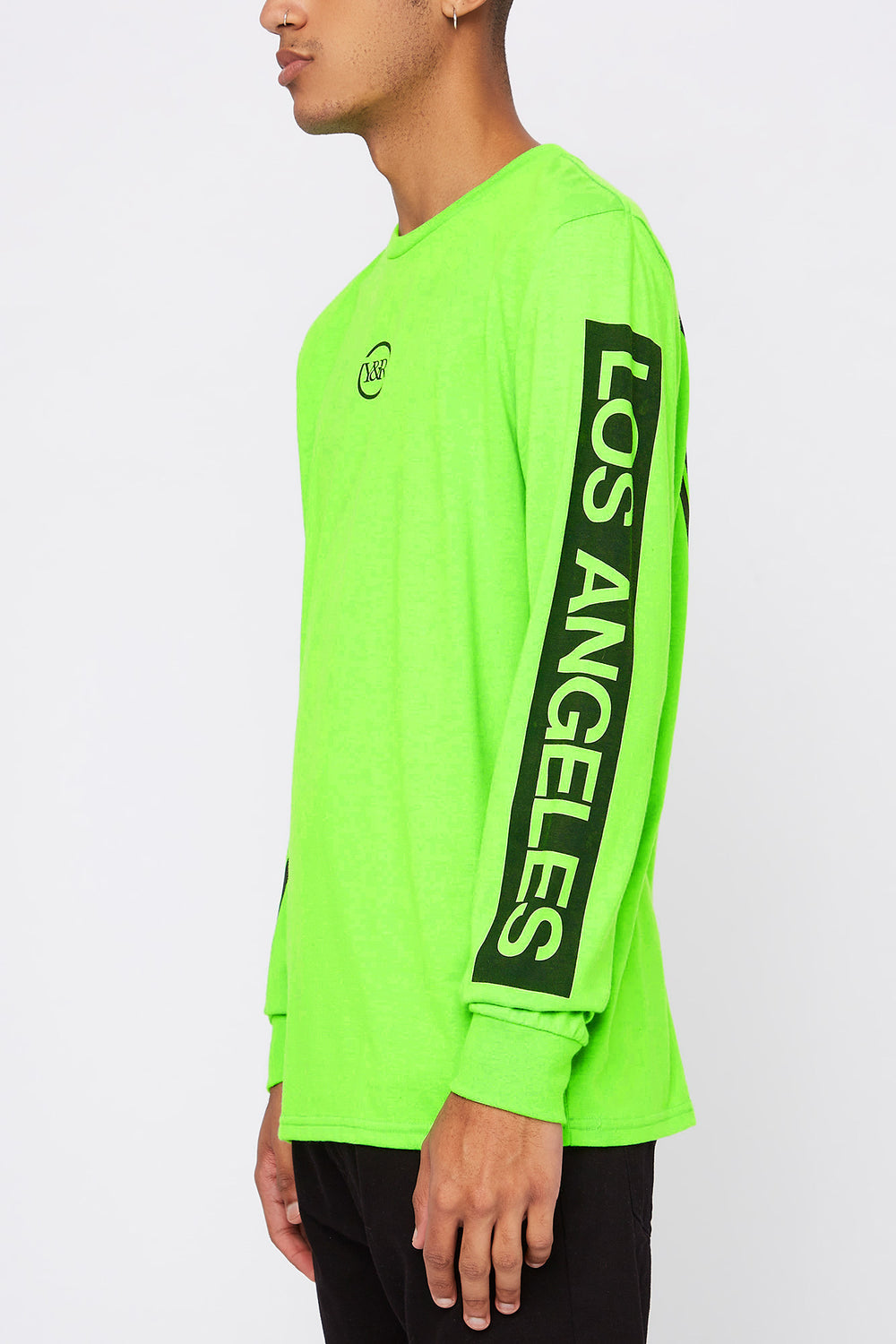 Chandail À Manches Longues Logo Fluo Young & Reckless Homme Vert fluo