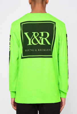 Young & Reckless Mens Neon Logo Long Sleeve Shirt