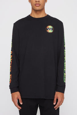 Chandail À Manches Longues Logo Circulaire Fluo Young & Reckless Homme