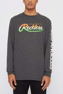 Chandail À Manches Longues Logo Fluo Young & Reckless Homme