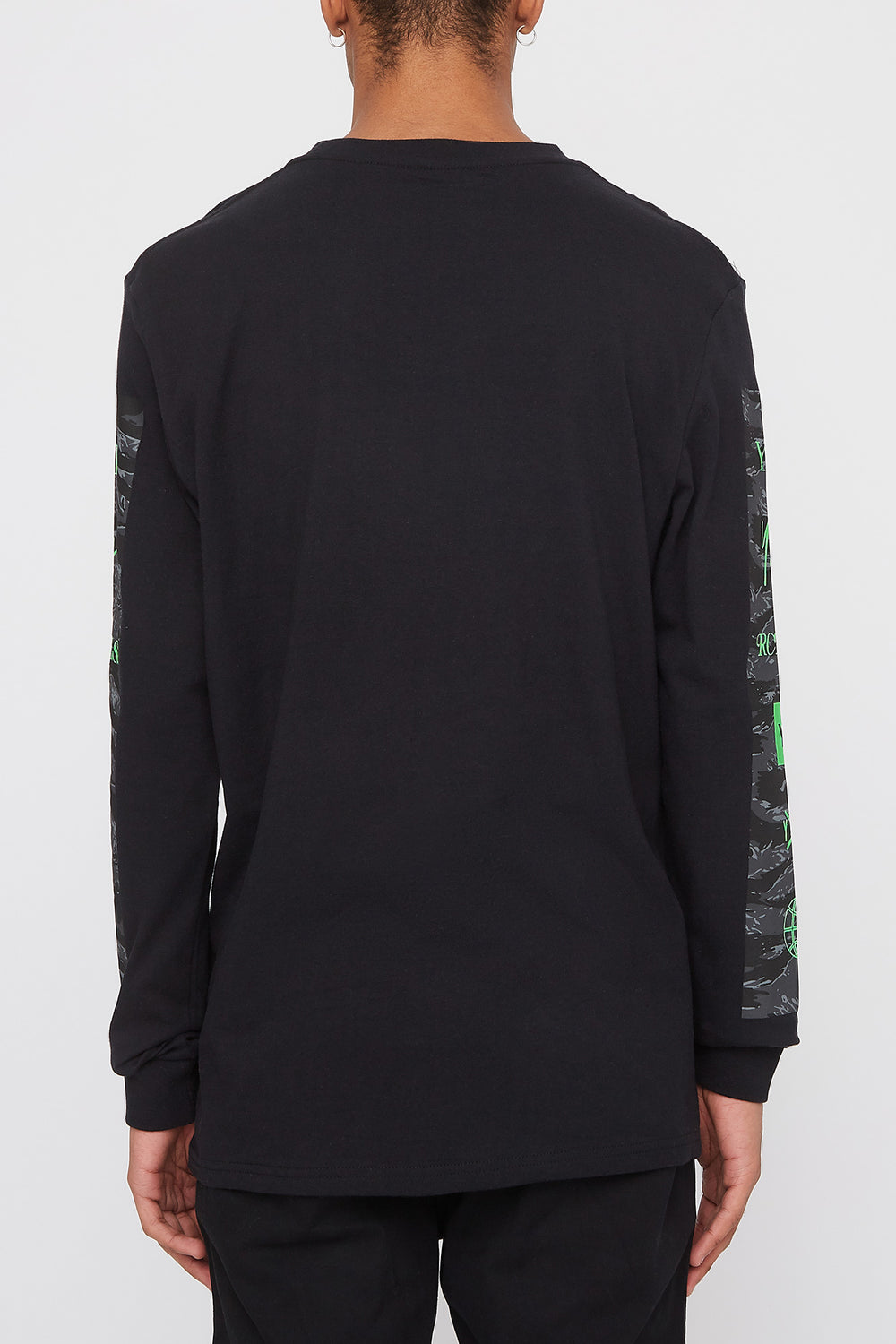 Chandail À Manches Longues Logo Camouflage Young & Reckless Homme Noir
