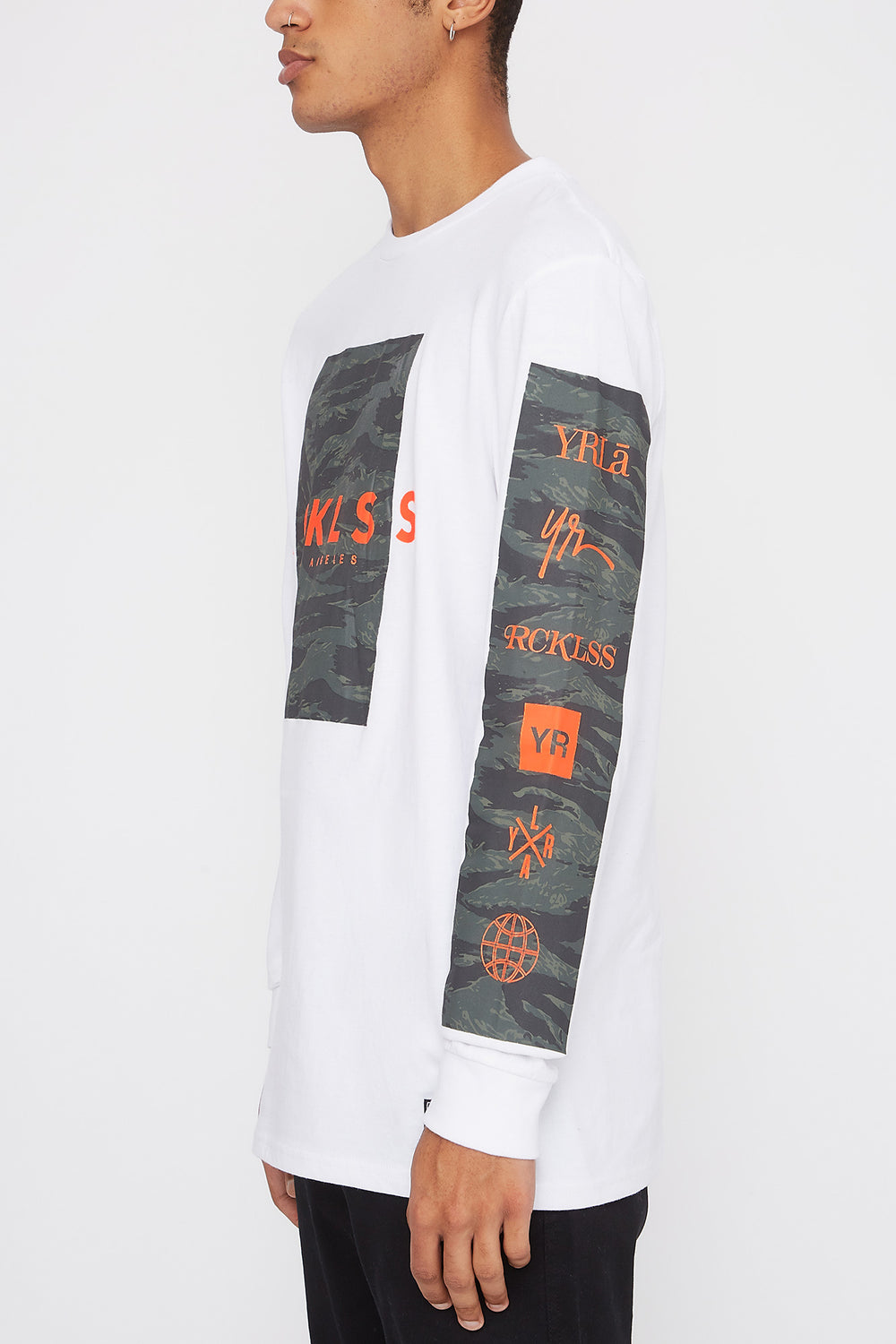 Chandail À Manches Longues Logo Camouflage Young & Reckless Homme Blanc