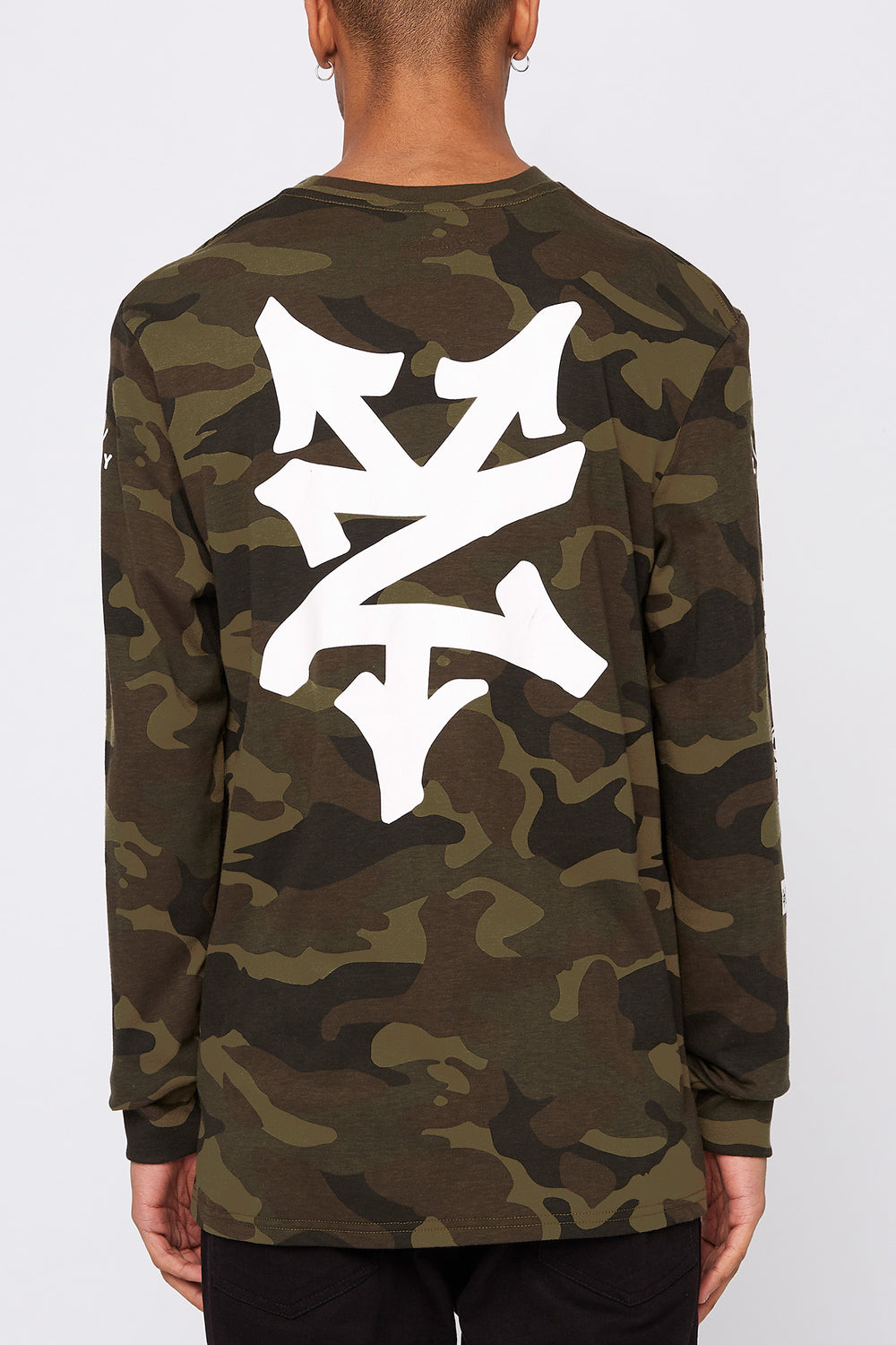 Zoo York Mens Camo Long Sleeve Shirt Camouflage