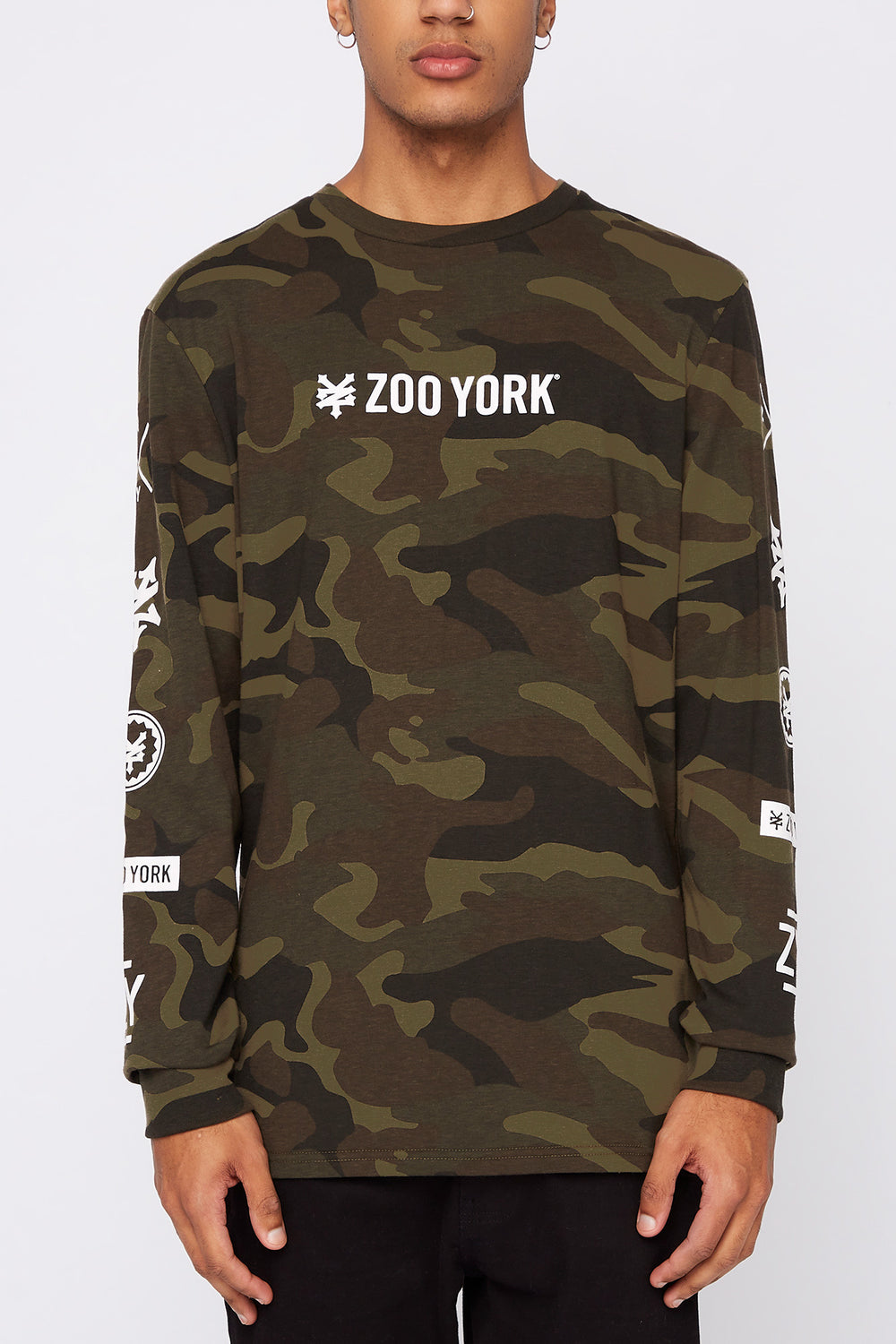 Chandail À Manches Longues Camouflage Zoo York Homme Camoufle