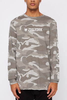 Chandail À Manches Longues Camouflage Zoo York Homme