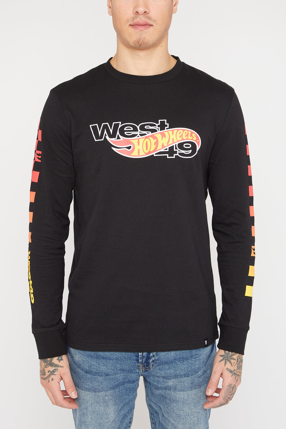 Hot Wheels X West49 Mens Long Sleeves Black