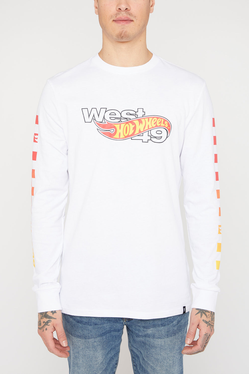 Manches Longues Hot Wheels X West49 Homme Blanc