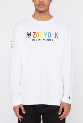 Zoo York Mens Rainbow Logo Long Sleeve Shirt