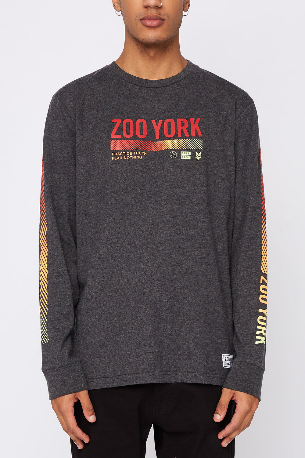 Zoo York Mens Practice Truth Long Sleeve Shirt Charcoal