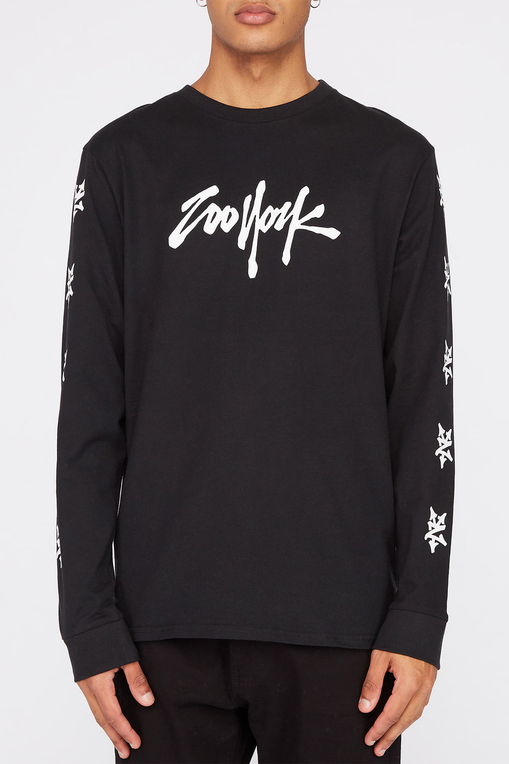 Zoo York Mens NYC Boroughs Long Sleeve Shirt Black