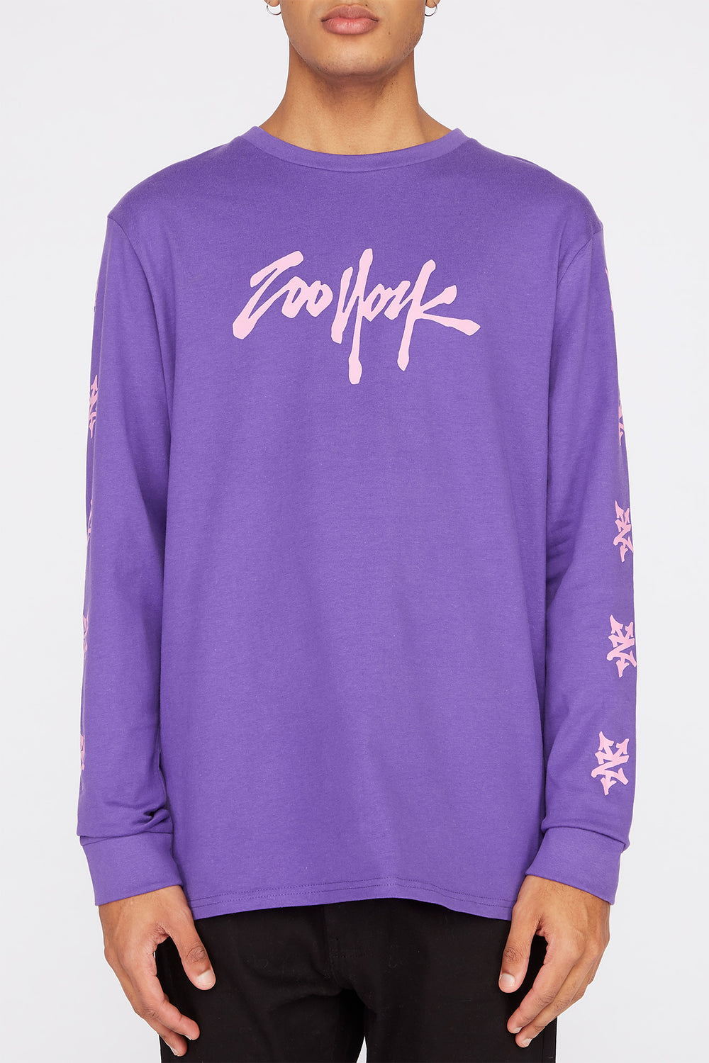 Zoo York Mens NYC Boroughs Long Sleeve Shirt Purple