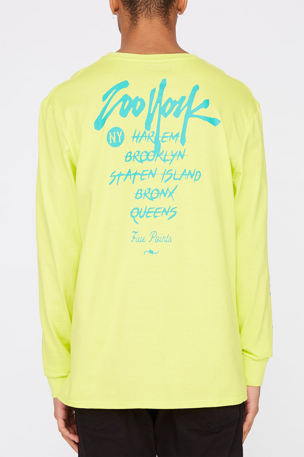Zoo York Mens NYC Boroughs Long Sleeve Shirt Yellow