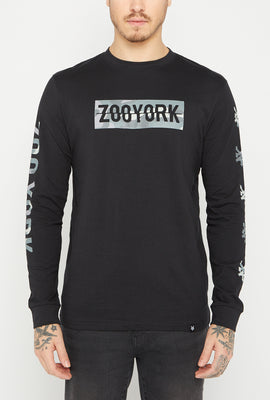 Chandail à Manches Longues Logos Camouflage Zoo York Homme
