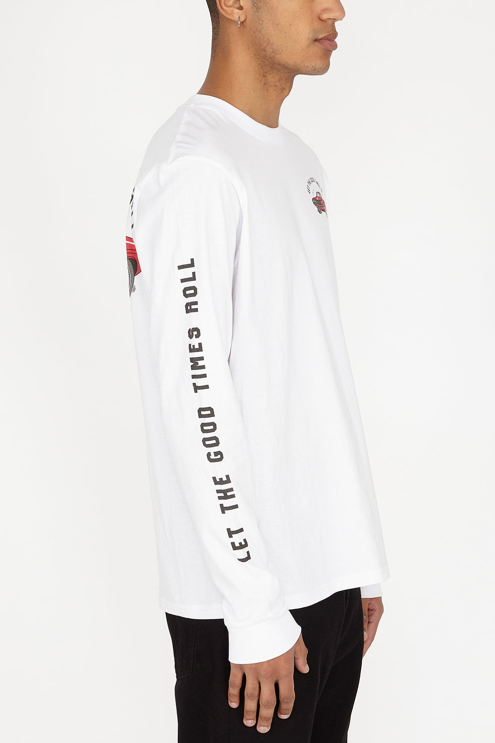Arsenic Mens Let the Good Times Roll Long Sleeves White