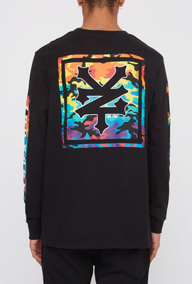 Zoo York Mens Rainbow Camo Logo Long Sleeve Shirt
