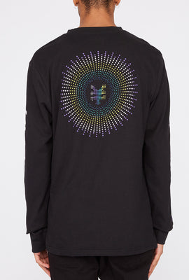 Zoo York Mens Rainbow Dots Long Sleeve Shirt
