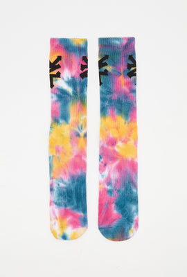 Zoo York Mens Tie-Dye Crew Socks