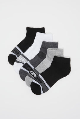 West49 Mens Ankle Socks 5-Pack