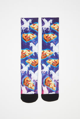 Zoo York Mens Graphic Sublimated Crew Socks