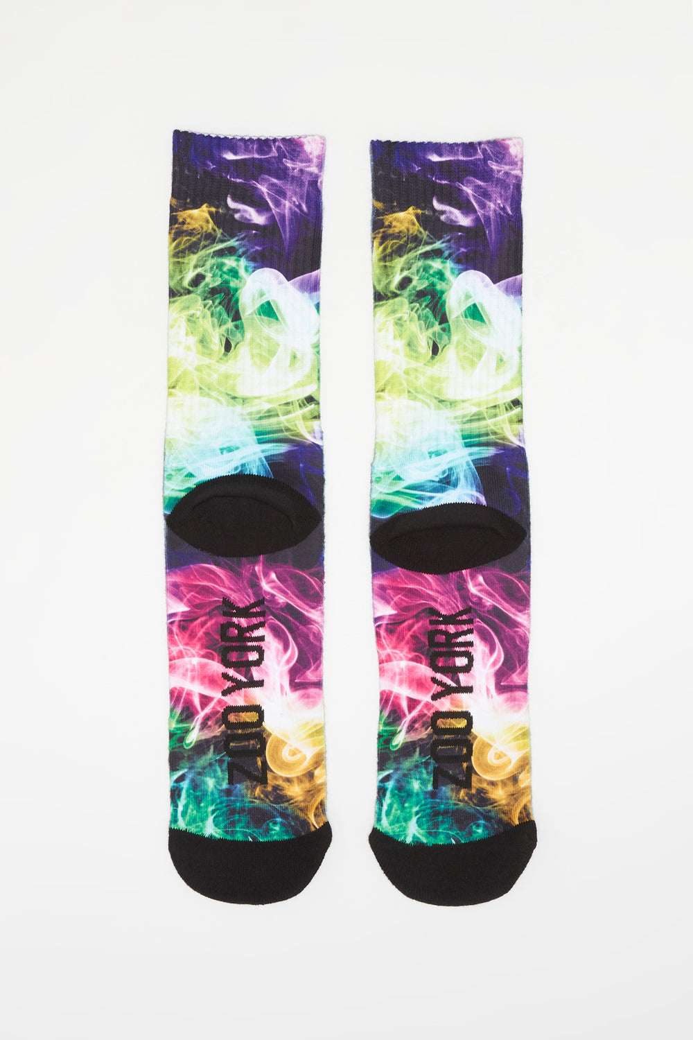 Zoo York Mens Sublimated Graphic Crew Socks Black