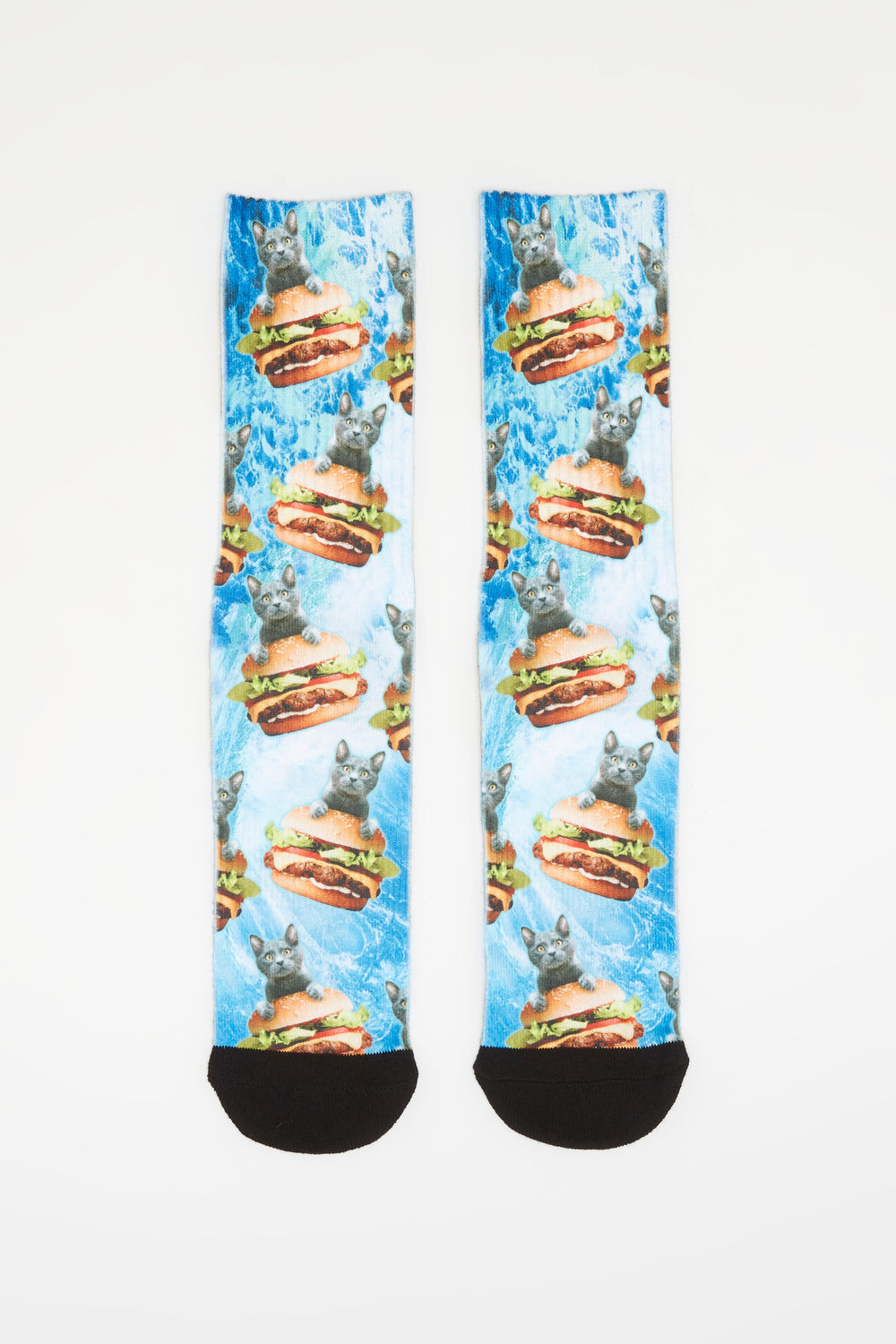 Zoo York Mens Sublimated Graphic Crew Socks Blue