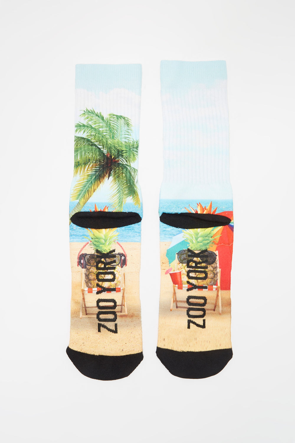 Zoo York Mens Graphic Crew Socks Sand