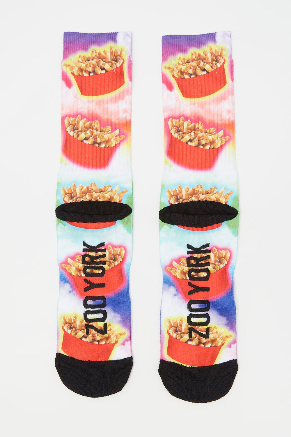 Zoo York Mens Poutine Crew Socks Red
