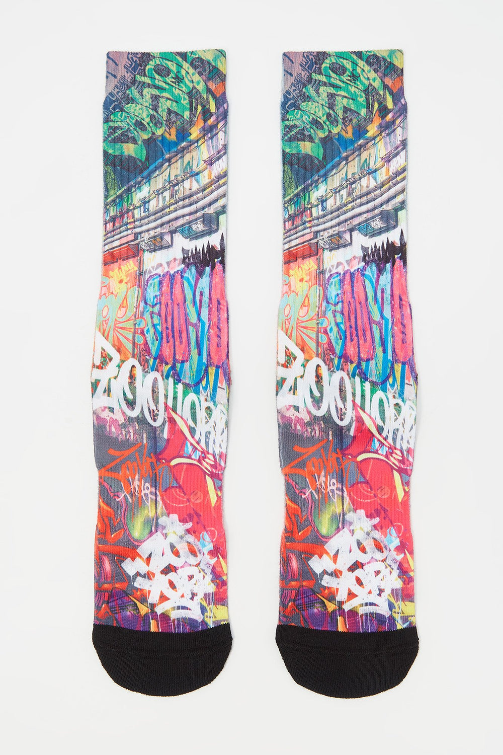 Chaussettes Graffiti Zoo York Homme Rose