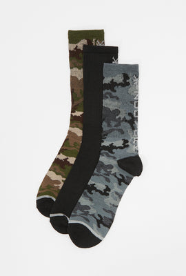 3 Paires de Chaussettes Camouflage Zoo York Homme
